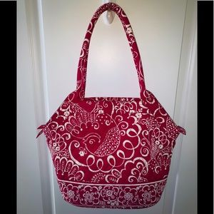 Vera Bradley Twirly Birds Pink Purse
